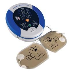 HeartSine Samaritan 350P vue avec les électrodes