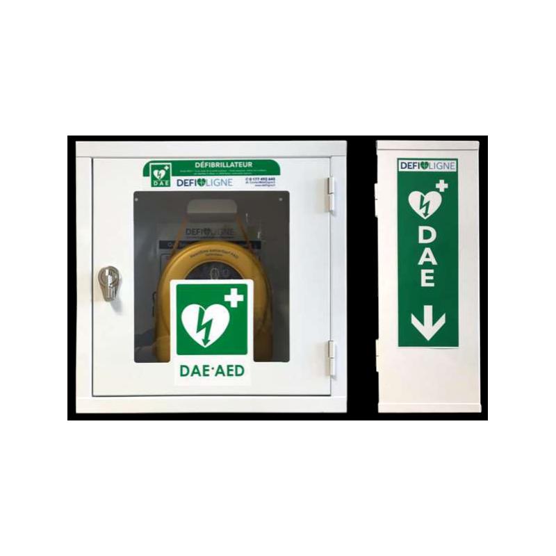 Armoire en métal pour défibrillateur avec vitre