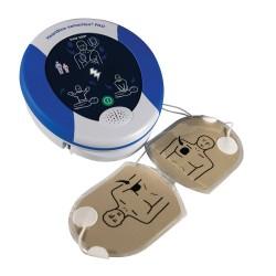 HeartSine Samaritan 360P vue avec les électrodes